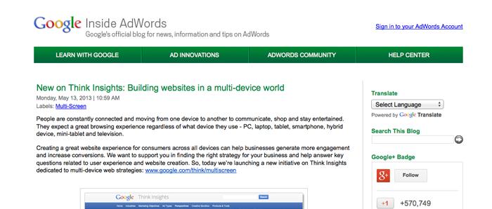 googe inside adwords blog