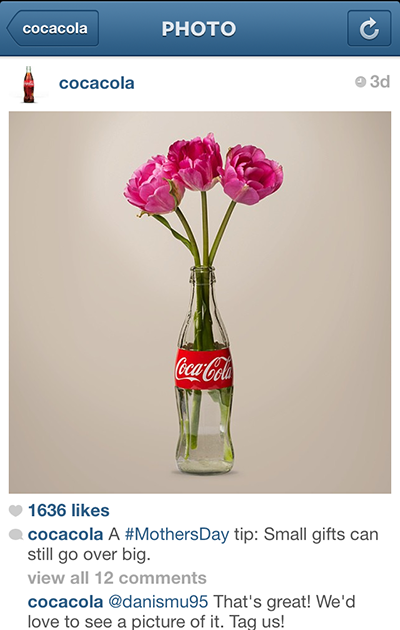 instragram example coca cola