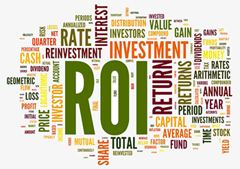 PPC ROI - return of investment word tag