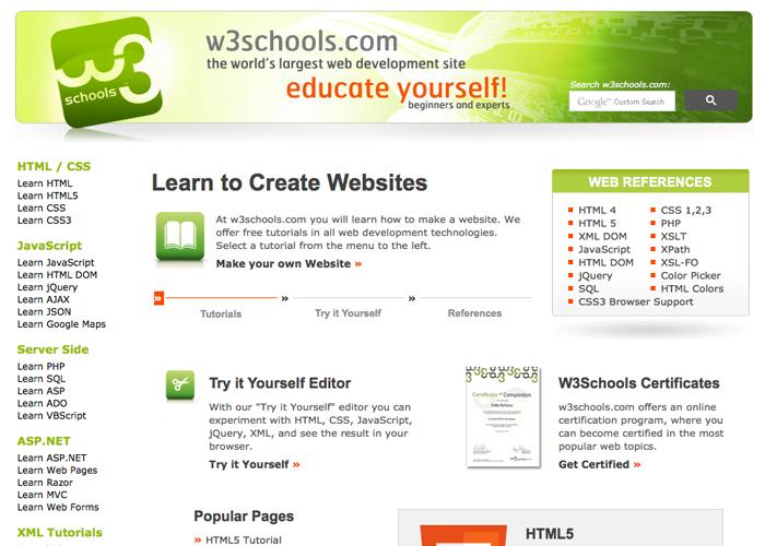 w3 school resource