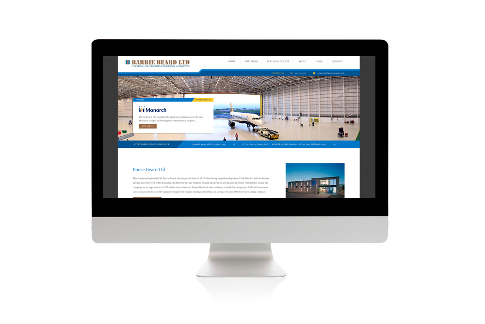 Barrie - website design example