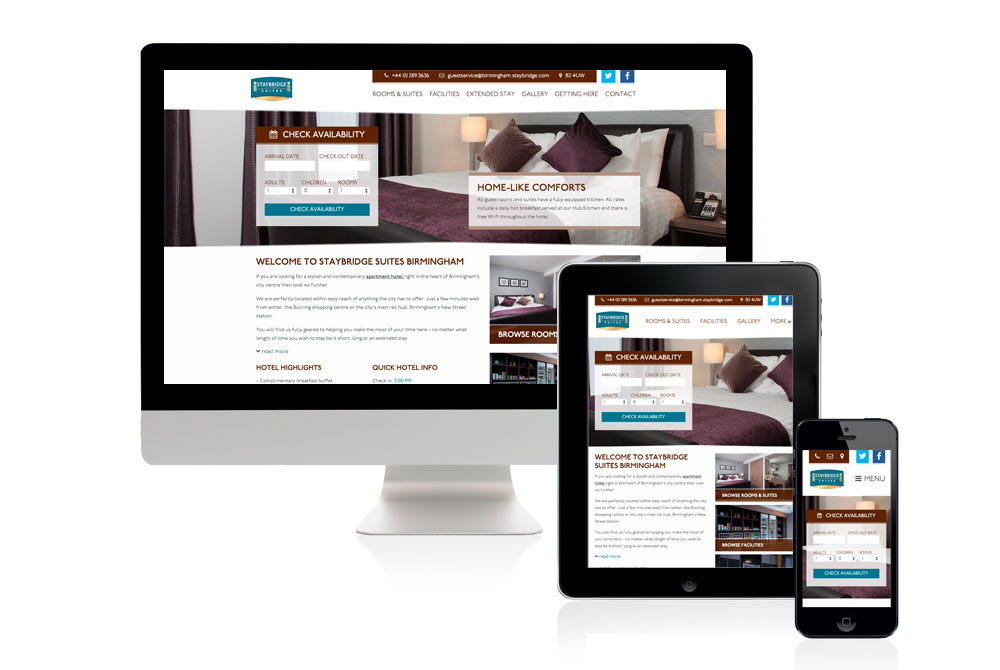 Staybridge Hotels - website design example